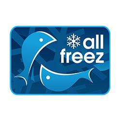 All Freez: Verse vis met een krokant randje-logo