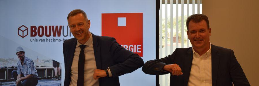 Jan Verbeke tekent contract Bouwunie